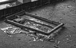 Prora Fenster am Boden