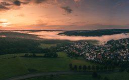 Nebelspektakel Sonnenuntergang